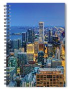 360chicago Rivers Begin To Glow - Skyline Panorama Spiral Notebook