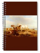 Willis Henry Brittan Horses And Cattle On The Shore Henry Brittan Willis Spiral Notebook