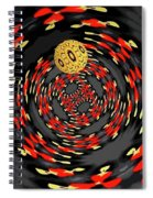3d Concentric Planet  Spiral Notebook