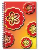3d Digital Flowers Spiral Notebook
