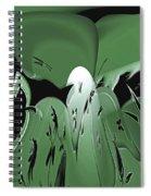 3d Green Abstract Spiral Notebook