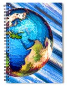 3d Render Of Planet Earth 10 Spiral Notebook