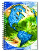3d Render Of Planet Earth 11 Spiral Notebook
