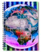 3d Render Of Planet Earth 12 Spiral Notebook