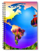 3d Render Of Planet Earth 18 Spiral Notebook