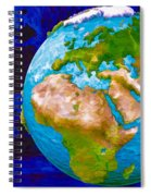 3d Render Of Planet Earth 6 Spiral Notebook