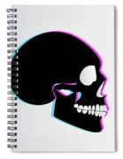 3d Skull Icon Background Side On Spiral Notebook