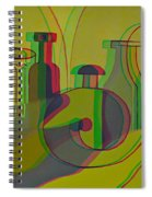 3d Stereo Cubism - Use Red-cyan 3d Glasses Spiral Notebook