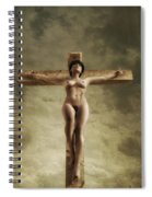 3d Sky Crucifix Spiral Notebook