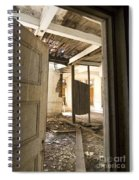 3rd Floor Door And Ruined Room Spiral Notebook