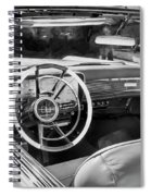 1959 Lincoln Continental Town Car Mk Iv Painted Bw Spiral Notebook
