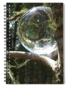 4-22-16--8699 Don't Drop The Crystal Ball, Crystal Ball Photography  Spiral Notebook