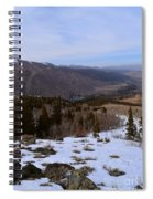 A Snowy Desert Mountain Scene Above Twin Lakes Along The Trail To Monument Ridge In The Eastern Sier Spiral Notebook