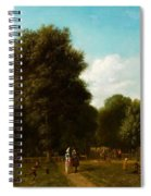 A View Of The The Haarlemmerhout Spiral Notebook
