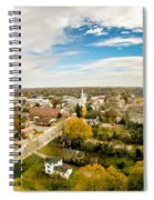 Aerial View Over White Rose City York Soth Carolina Spiral Notebook