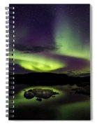 Aurora Borealis Over Iceland Spiral Notebook