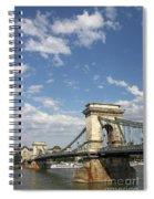 Chain Bridge On Danube River Budapest Spiral Notebook
