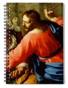 Christ Cleansing The Temple Spiral Notebook