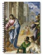 Christ Healing The Blind Spiral Notebook