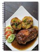 Cordon Bleu Breaded Fried Chicken Gravy And Potatoes Meal Spiral Notebook