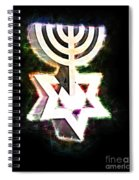David's Menorah Jerusalem Spiral Notebook
