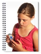 Diabetic Child With Blood Glucose Tester Spiral Notebook