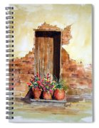 Door With Pots Spiral Notebook