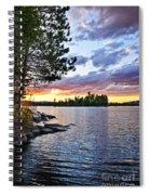 Dramatic Sunset At Lake Spiral Notebook