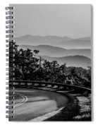 Early Morning Sunrise Over Blue Ridge Mountains Spiral Notebook