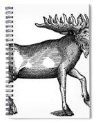 Elk/moose Spiral Notebook