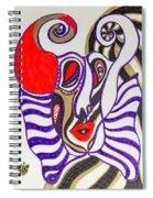 4 Faces Of Laurel - Iv Spiral Notebook