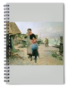 Fisherfolk Returning With Their Nets 1882 Henry Bacon Spiral Notebook
