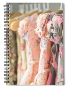 Floral Pattern Young Girl Dresses In Shop Spiral Notebook