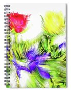 Flower Frame Border Spiral Notebook