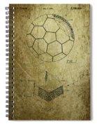 Football Patent Spiral Notebook