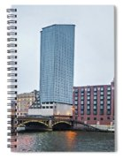 Grand Rapids Michigan City Skyline And Street Scenes Spiral Notebook