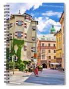 Historic Street Of Innsbruck View Spiral Notebook