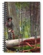 Hunter In The Adirondacks Spiral Notebook