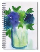 4 Hydrangeas Spiral Notebook