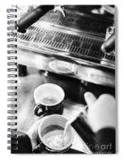 Italian Espresso Expresso Coffee Making Preparation With Machine Spiral Notebook