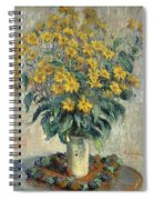 Jerusalem Artichoke Flowers Spiral Notebook