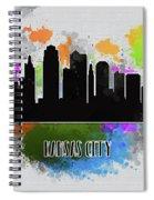 Kansas City Skyline Silhouette Spiral Notebook