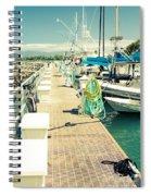 Lahaina Harbor Maui Hawaii Spiral Notebook