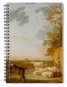 Landscape With Cattle Spiral Notebook