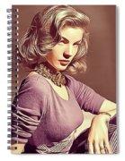 Lauren Bacall, Vintage Actress Spiral Notebook