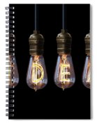 Light Bulb Background Spiral Notebook