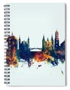 Ljubljana Solvenia Skyline Spiral Notebook