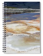 Mammoth Hot Springs Upper Terraces In Yellowstone National Park Spiral Notebook