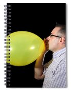 Man Inflating Balloon Spiral Notebook