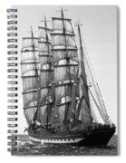 4-masted Schooner Spiral Notebook